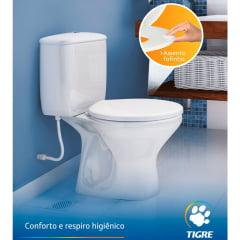 Assento sanitário almofadado suavit oval universal branco convencional polipropileno