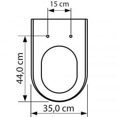 Assento sanitário Carrara Link Lk Duna Nuova Vesuvio preto fosco slow close resina termofixo