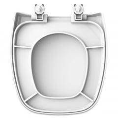 Assento sanitário Celite Fit/Versato e Eternit/Savary branco convencional polipropileno