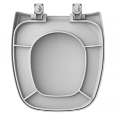 Assento sanitário Celite Fit/Versato e Eternit/Savary cinza convencional polipropileno