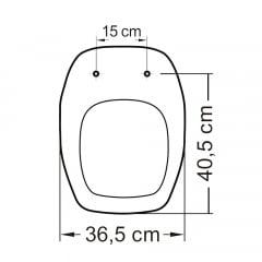 Assento sanitário Celite Fit/Versato e Eternit Savary pergamon soft close polipropileno