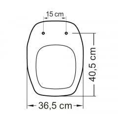 Assento sanitário Celite Fit Versato Eternit Savary preto soft close polipropileno Tupan