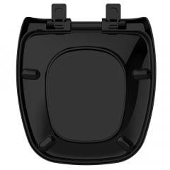 Assento sanitário Celite Fit/Versato e Eternit Savary preto soft close resina termofixo