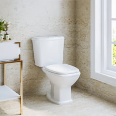Assento sanitário Celite Riviera/Smart e Roca Nexo branco convencional polipropileno