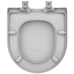 Assento sanitário Celite Riviera/Smart e Roca Nexo cinza soft close resina termofixo