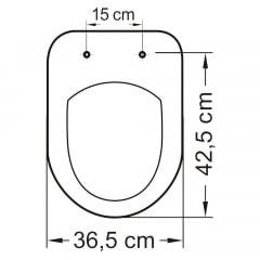 Assento sanitário Celite Riviera/Smart e Roca Nexo pergamon convencional polipropileno