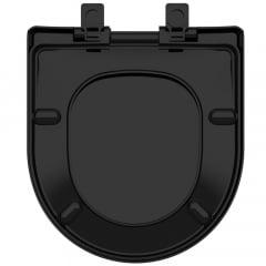 Assento sanitário Celite Riviera/Smart e Roca Nexo preto convencional resina termofixo
