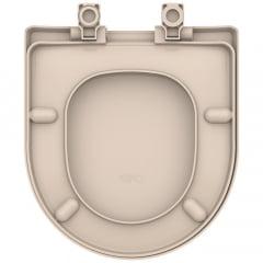Assento sanitário Celite Riviera Smart Roca Nexo rosato soft close resina termofixo Tupan