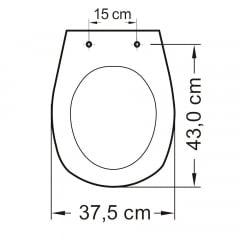 Assento sanitário Deca Aspen/Fast e Santa Clara Álamo creme soft close polipropileno