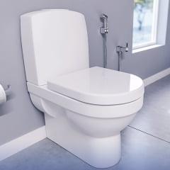 Assento sanitário Deca Monte Carlo branco soft close easy clean Tigre polipropileno