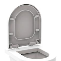 Assento sanitário Deca Monte Carlo branco soft close easy clean Tigre resina termofixo