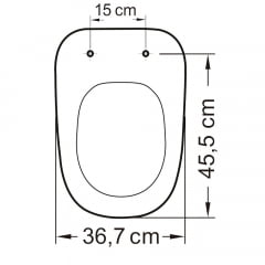 Assento sanitário Deca Monte Carlo preto convencional polipropileno