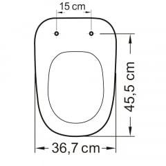 Assento sanitário Deca Monte Carlo preto soft close polipropileno