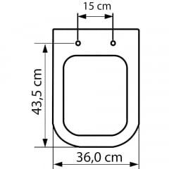 Assento sanitário Deca Polo/Unic/Quadra Roca Debba/Gap creme soft close polipropileno