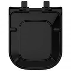 Assento sanitário Deca Polo/Unic/Quadra Roca Debba/Gap preto soft close resina termofixo