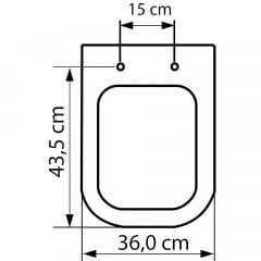 Assento sanitário Deca Quadra/Polo/Unic Roca Debba/Gap gelo convencional polipropileno