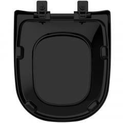 Assento sanitário Icasa Etna preto soft close resina termofixo