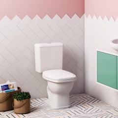 Assento sanitário Fiori Prímula Amarílis Hervy Laguna Celite Stylus branco convencional polipropileno