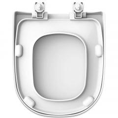 Assento sanitário Icasa Etna branco soft close resina termofixo
