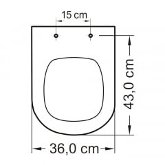 Assento sanitário Icasa Etna preto convencional polipropileno