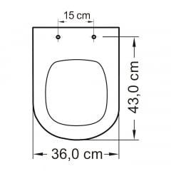Assento sanitário Icasa Etna preto convencional resina termofixo