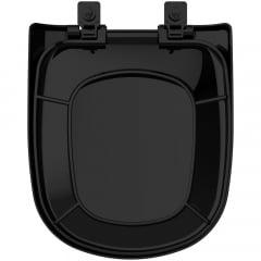 Assento sanitário Icasa Etna preto soft close polipropileno