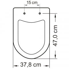 Assento sanitário Icasa Luna/Luna Speciale cinza claro convencional resina termofixo