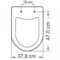 Assento sanitário Icasa Luna/Luna Speciale preto convencional resina termofixo