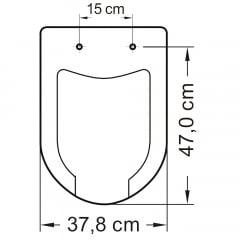 Assento sanitário Icasa Luna Medic branco convencional polipropileno