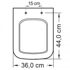 Assento sanitário Icasa Misti branco soft close polipropileno