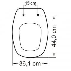 Assento sanitário Icasa Sabatini branco convencional polipropileno