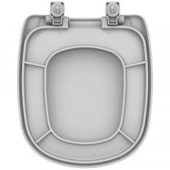 Assento sanitário Icasa Sabatini cinza claro soft close polipropileno