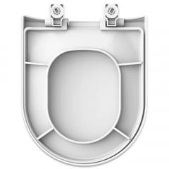 Assento sanitário Icasa Vesuvio branco soft close polipropileno