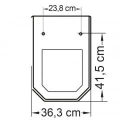 Assento sanitário Incepa Atrium biscuit convencional resina termofixo