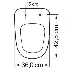 Assento sanitário Incepa Ibiza biscuit convencional resina termofixo