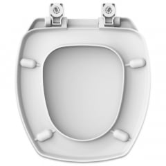 Assento sanitário Incepa Thema branco convencional resina termofixo