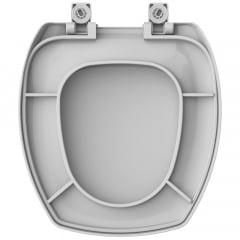 Assento sanitário Incepa Thema cinza soft close polipropileno