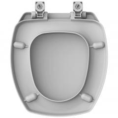 Assento sanitário Incepa Thema cinza soft close resina termofixo