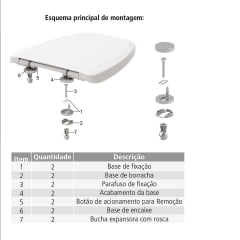 Assento sanitário oval universal branco soft close easy clean Tigre polipropileno