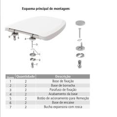 Assento sanitário oval universal branco soft close easy clean Tigre resina termofixo