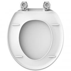 Assento sanitário Universal Oval Apolo branco convencional polipropileno