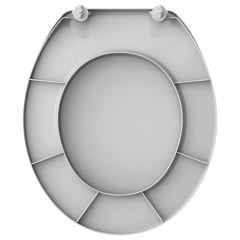 Assento sanitário Universal Oval Diamantina Sabara convencional polipropileno