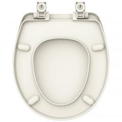 Assento sanitário Universal Oval Evolution biscuit convencional resina termofixo
