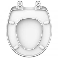 Assento sanitário Universal Oval Evolution branco soft close resina termofixo