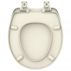 Assento sanitário Universal Oval Evolution creme soft close resina termofixo
