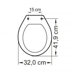 Assento sanitário universal oval infantil branco convencional polipropileno