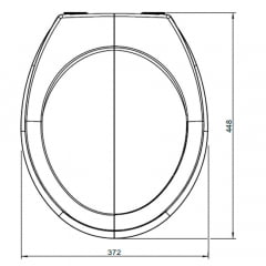 Assento sanitário Universal Oval Luxo convencional resina termofixo