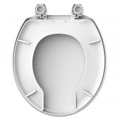 Assento sanitário Universal Oval Plus Care branco convencional polipropileno