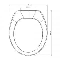 Assento sanitário Universal Oval Premium cinza convencional polipropileno