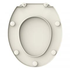 Assento sanitário Universal Oval Prime biscuit convencional polipropileno